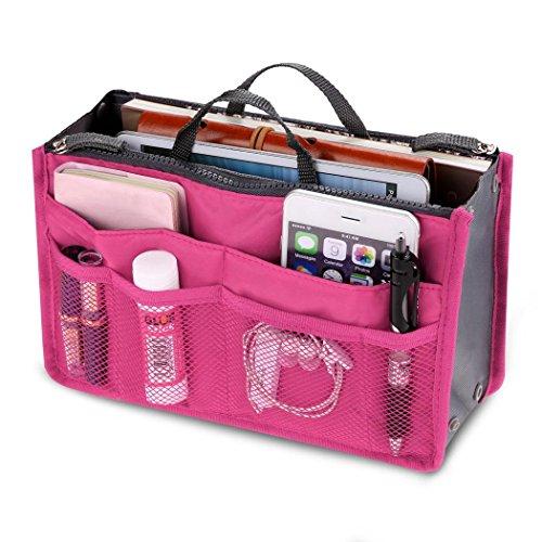 ThinIce Multi-Pocket Insert Handbag Purse Organizer Bag in Bag Handbag with zipper & Handles by ThinIce