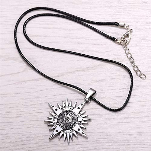 Value-Smart-Toys - Silver plated Anime D.Gray-man Silver Metal Necklace Allen Logo Pendant Cosplay Accessories Jewelry Christmas Gifts HF10368