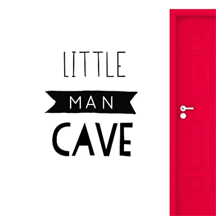 Yiyiyaya Little Man Cave Sign Wall Decals Home Decoration