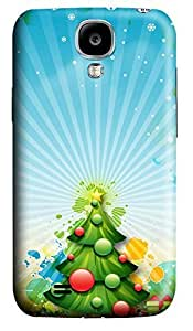 Samsung S4 Case Beautiful Xmas Tree 3D Custom Samsung S4 Case Cover