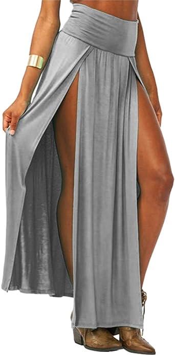 Faldas Larga Fiesta Verano Maxi Faldas para Mujer Casual Falda de ...