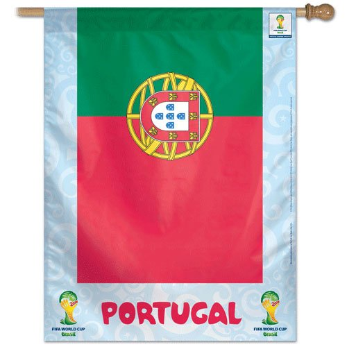 """Portugal - 27"""" x 37"""" Country World Cup 2014 Vertical Banner"""
