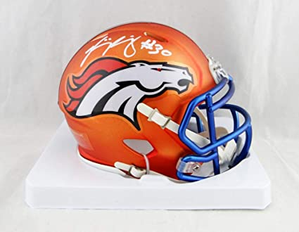 new product a6122 f7dd8 Amazon.com: Phillip Lindsay Autographed Denver Broncos Blaze ...
