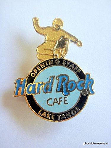 Opening Staff Blue Logo With Gold Snowboarder Hard Rock Cafe Lake Tahoe Nevada (Logo Hard Rock Cafe)