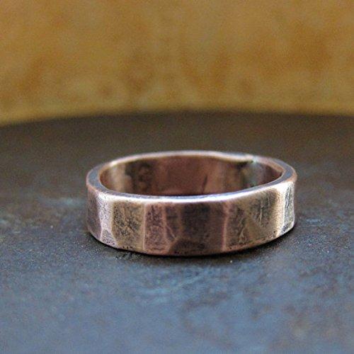 5 mm Custom Rustic Wedding Band, Rose Gold