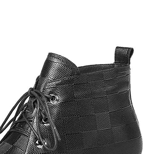 Zqzq Élégant dames Bottes Chaud Antidérapant Leather Bottines pour Marron HwqrSHY