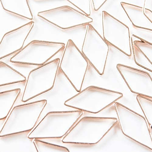 フレームパーツ ピンクゴールド ダイヤ ひし形 2.3cm 【サイズ大】 10個 レジンクラフト 型 枠 チャーム ピアス イヤリング パーツ アクセサリーパーツ 材料 素材