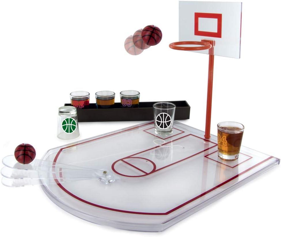 Mister Gadget MG3039 - Juego de vasos Basket PP en cristal blanco ...