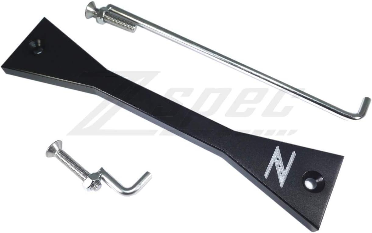 Silver or Black 03-09 ZSPEC Design Billet Battery Hold Down//Bracket Kit for Nissan 350z Z33