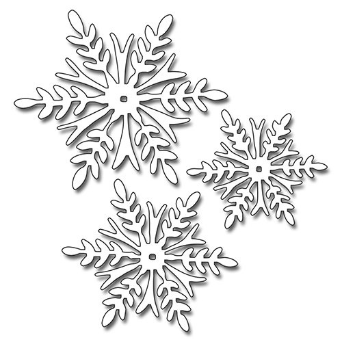 Decorative Trio (Penny Black Snowflake Trio Decorative Dies)