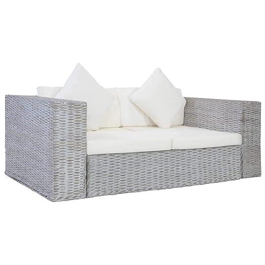 vidaXL Sofá de 2 plazas con Acolchado, sofá de Dos plazas ...
