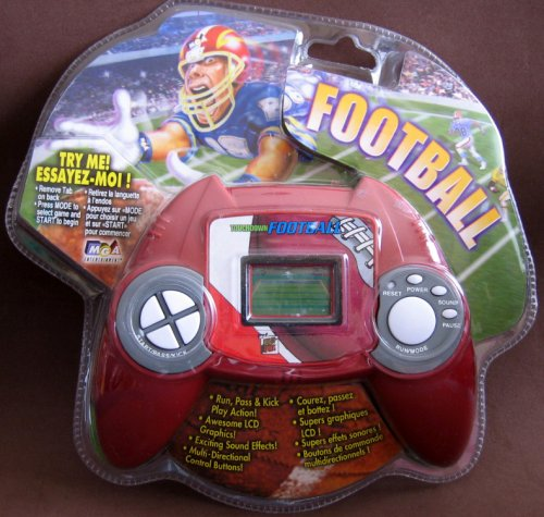 Entertainment Game Handheld Mga - Deluxe Sports Games - Touchdown Football Hand Held Electronic Game