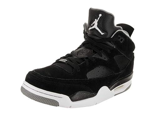 check out fb122 bdb8e Jordan Nike Men s Son of Low Black White Particle Grey Basketball Shoe 8 Men
