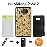 Mr Doge MEME Custom Galaxy Note 5 Cases-Black-Rubber,Bundle 2in1 Comes with Custom Case/Universal Stylus Pen by innosub