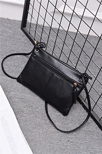 ZOONAI Phone Leather Cell Purse Bag Zipper Silver Wallet Shoulder Crossbody Women ZSAwU8xqZr