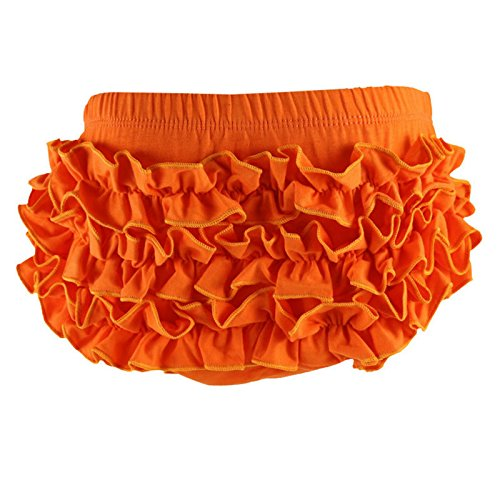 Wennikids Baby Girl's Cotton Shorts and Diaper Cover Bloomers Large Orange