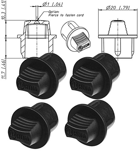 (Neutrik Ndm Dummy Plug ( PACK OF 4) For Use With Xlr Chassis Socket ( Dust Cover ) MALE XLR RECEPT)
