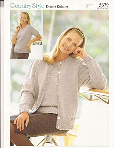 Sirdar Country Style DK Twinset Knitting Pattern for Teens and Women #5679 Pattern -