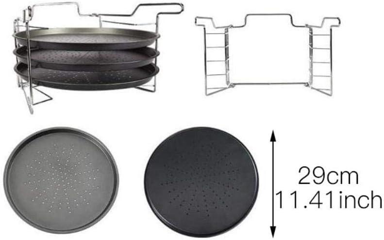 piatti utensili da cucina WENGE piatti piatti piatti Set di 4 teglie antiaderenti in acciaio al carbonio per pizza