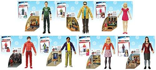 Big Bang Theory 3.75 inch Action Figure Set of 7 Series 1