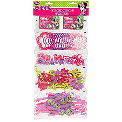 DisneyMinnie Mouse Party Supplies | Party Favor | Pack of 100: Toys & Games