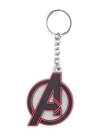 Llavero de goma con logo de los vengadores de Marvel: Amazon ...