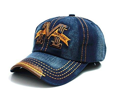 visera Gorra Azul talla de hip estilo M con béisbol hop qOrCHxOt