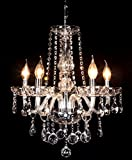 Crystal Ball Pendant Candle Chandelier with 5 lights of Ella Fa