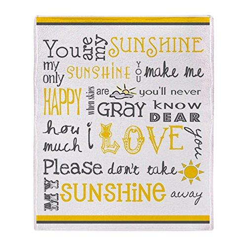 CafePress You are My Sunshine Soft Fleece Throw Blanket, 50