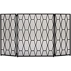 "Deco 79 50378 Striking Metal Fire Screen, 51"" W x 31"" H"
