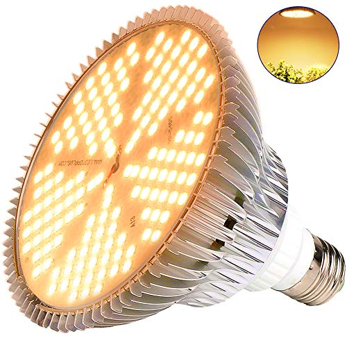 (100W Led Grow Light Bulb, Sunlike Full Spectrum Grow Lights for Indoor Plants, E26 150 LEDs Plant Light Bulb for Hydroponics Indoor Garden Greenhouse Houseplants Vegetable Tobacco (150LEDs-Sunlike)))