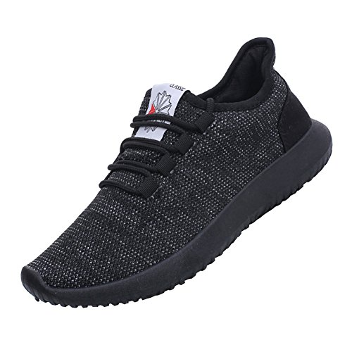 fereshte Summer Men Women Unisex Couple Casual Fashion Sneakers Breathable Athletic Sports Shoes Black EU42-US Women Size 9/US Men Size 8