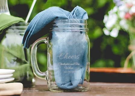 16oz Mason Jar Glass Mug w// Handle Funny I Drink Beer Periodically Geek