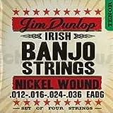 Dunlop DJN1236 Banjo Strings, Nickel, Irish Tenor, .012-.036, 4 Strings/Set