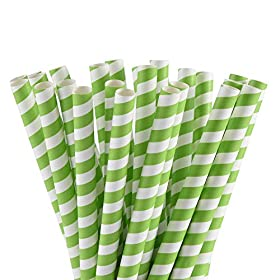 ALINK 12mm Exra Wide Biodegradable Paper Drinking Straws, Pack of 100