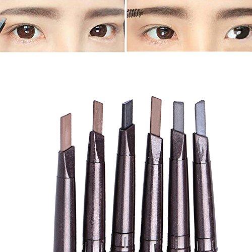 Wasserdichte Augenbrauenpuder Kompaktpuder Augenbrauenstift 14cm Make Up Werkzeuge mit Augenbrauen Schablonen