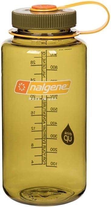 Olive Nalgene Tritan 32 oz Narrow Mouth BPA-Free Water Bottle