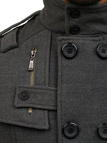 Bottoni Con Collo Grigio Monopetto Elegante – Uomo 8858 Cappotto Revers Bolf Da Semi 4d4 Cerniera FqwYqI