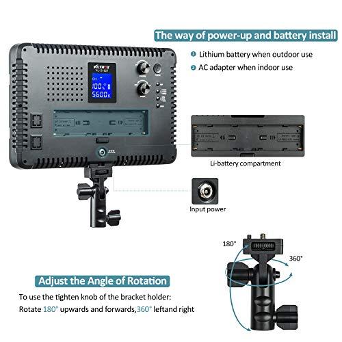 VILTROX VL-S192T 45W/4700LM Dimmable LED Video Light Panel,Bi-Color Video Lighting,CRI95+,3300K-5600K,Wireless Remote, Barn Door Light Barrier