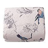Best Comforter Sets, Flying Birds Printing 3 Piece Cotton Bedspread/Quilt Sets, Queen