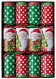 Caspari Santa's Celebration Crackers, Box of 8