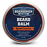 Beard Balm 4 oz - 50% Less Per Ounce - Twice The Size - Expert Crafted With 100% Natural Ingredients - Softens and Conditions Your Beard - Best Leave-In Beard Conditioner