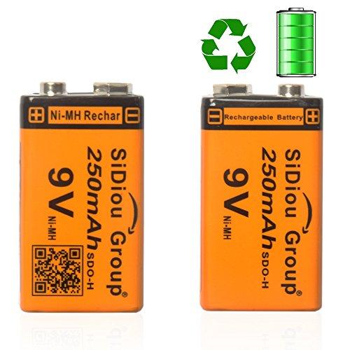 Sidiou Group 250mAh 9v Rechargeable Ni-MH battery 23F6-220 rechargeable battery Ni-MH universal battery Friendly-environmentally & Energy-saving battery