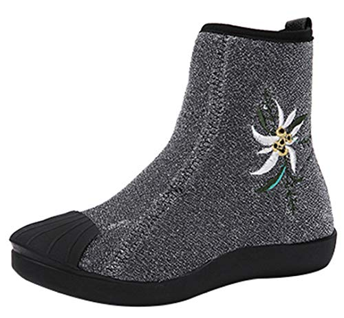 Martin Stiefeletten Boden Elastischen Stiefel Frauen Casual Flachen Warme Schuhe Wilden 4wUBAq