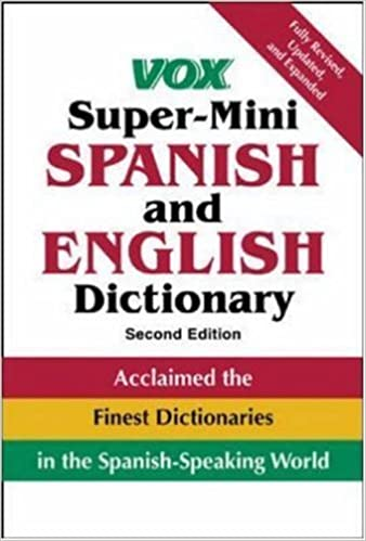 Vox Super-Mini Spanish and English Dictionary (VOX Dictionary Series) by Vox (2004-12-17)