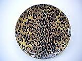 8'' Jaguar Animal Print Melamine Salad Plates Set of Two