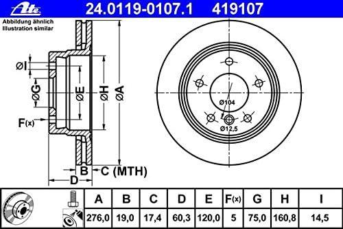 ATE CERAMIC BREMSBEL/ÄGE+SCHEIBEN /Ø276mm+Warnkontakt hinten