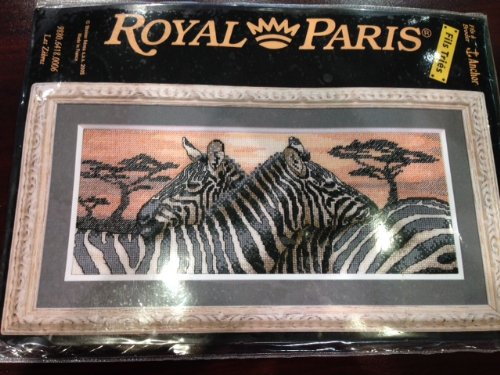 Zebras Cross Stitch Kit - Royal Paris Needlepoint
