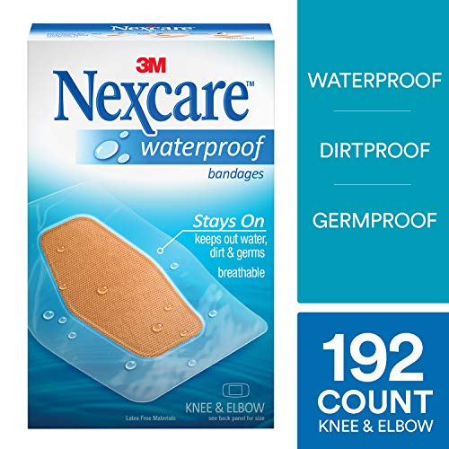 (Nexcare Large Waterproof Bandages, Ultra-thin and Comfortable, Protects Cuts, Scrapes, and Blisters, 8-Count Packages (Pack of 24))