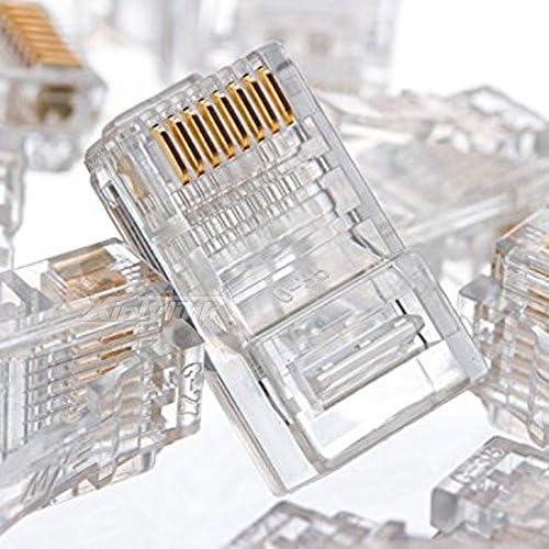 Cenos Connectors Color: cat5e, Package: 100pcs xintylink EZ rj45 connector ethernet cable plug cat5 cat5e cat6 terminals network 8p8c unshielded modular utp male 50pcs 100pcs